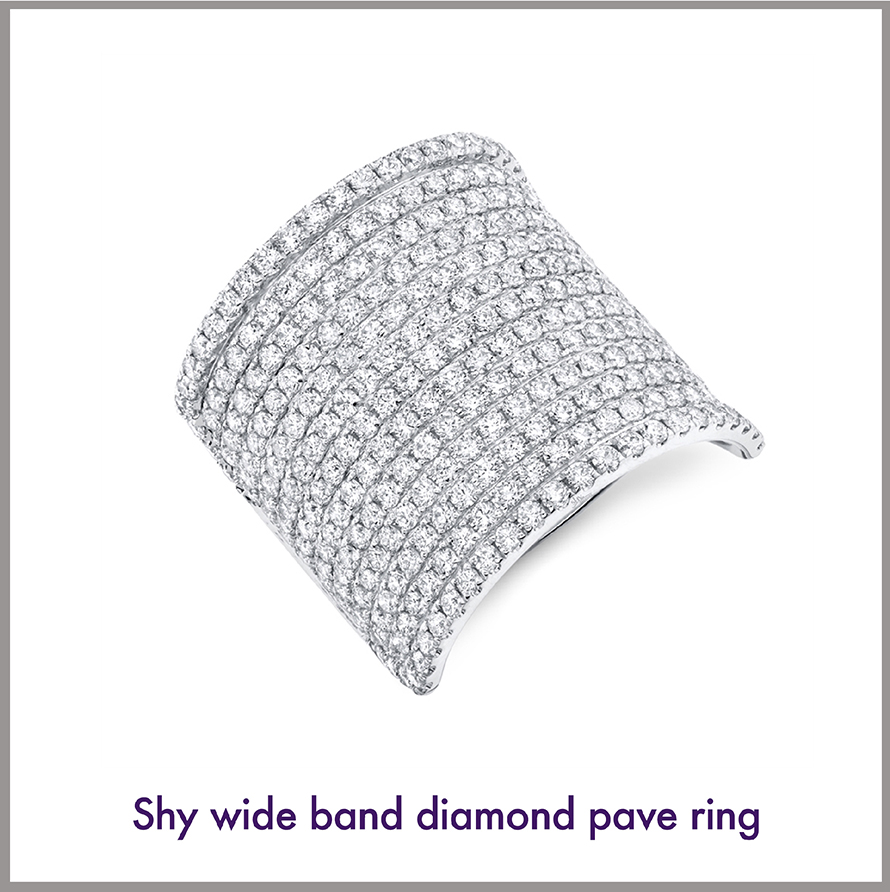 Large Pave Diamond Cocktail Ring
