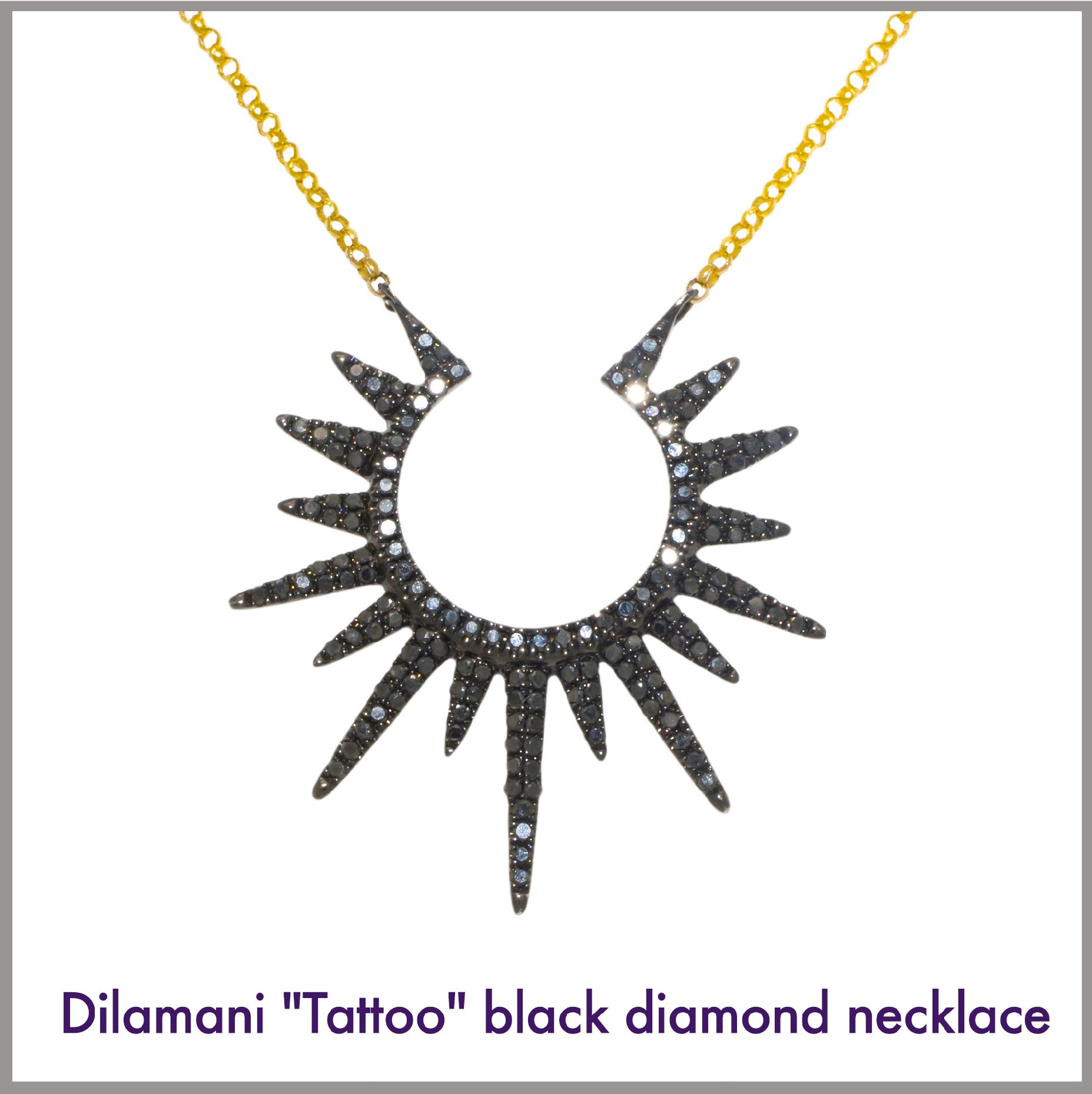 Black Diamond Sun Necklace